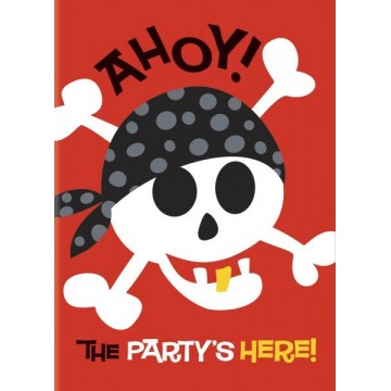 Pirate fun invitationer