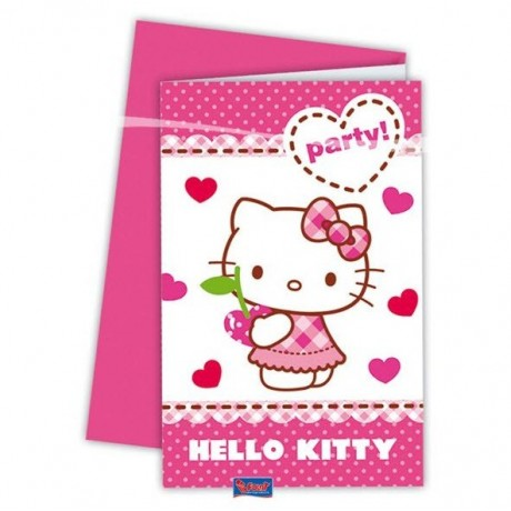 Hello Kitty invitationer