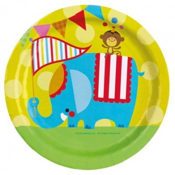 Cirkus Fisher Price paptallerkner