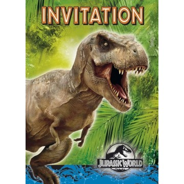 Jurassic World invitationer