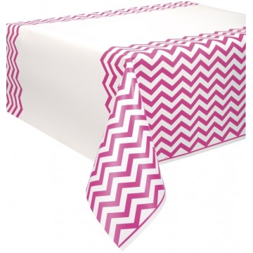 Hot pink chevron plastikdug