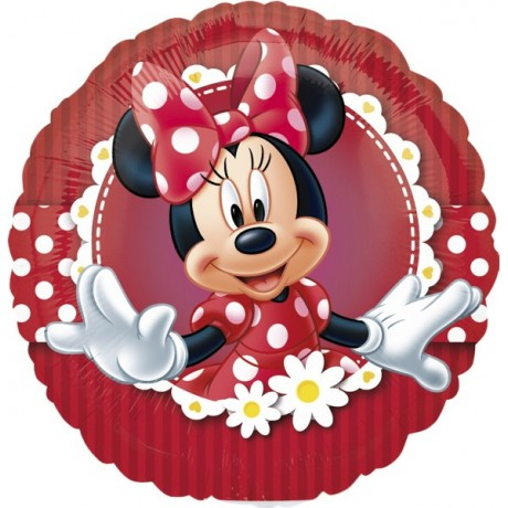 Rund Minnie Mouse folieballon
