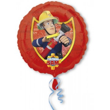 Rund Brandmand Sam folieballon