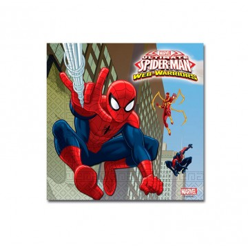 Spiderman Warriors - 20 servietter
