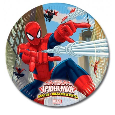 Spiderman Warriors - 8 tallerkner