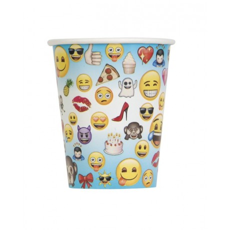 Emoji Smiley Papkrus - 8 stk