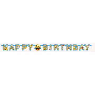 Happy birthday Emoji Smiley guirlande