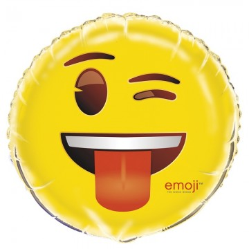 Blinkende smiley Emoji folieballon