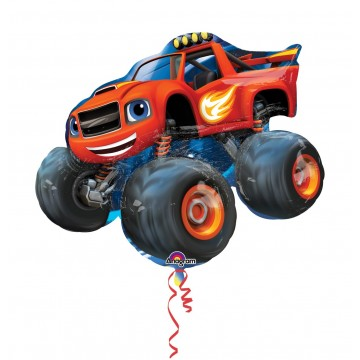 Stor Blaze monster truck folieballon