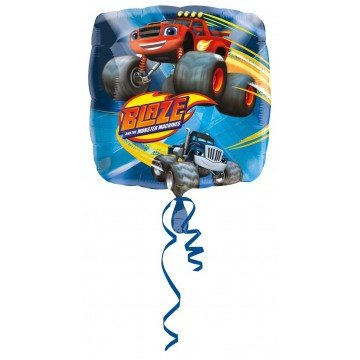 Blaze monster truck folieballon - Firkantet