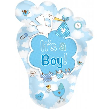 Stor it's a boy babyfod folieballon