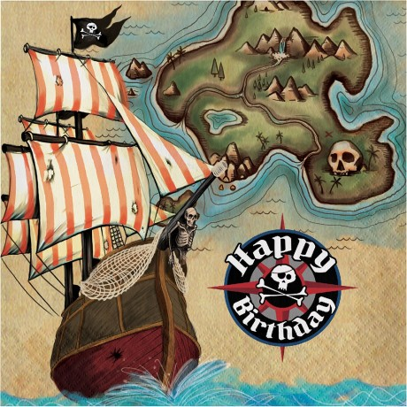Pirates map servietter