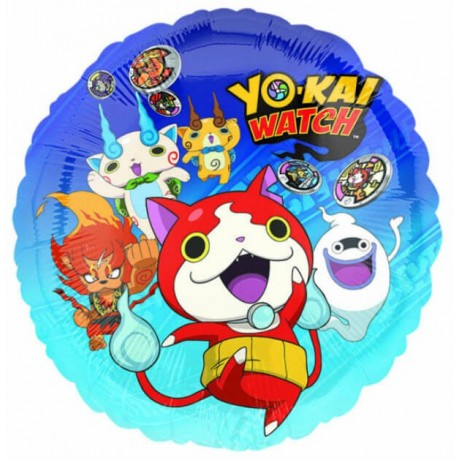 Rund Yo Kai Watch folieballon
