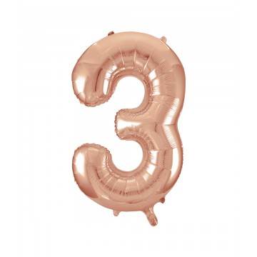 3 tal rose gold folieballon