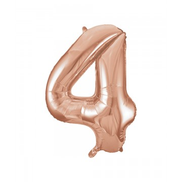 4 tal rose gold folieballon