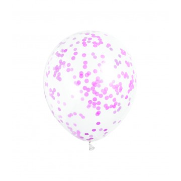Konfetti ballon - Hot pink