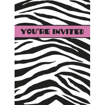 Pink Zebra invitationer