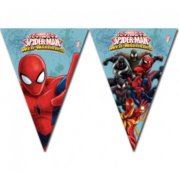 Spiderman warriors vimpelguirlande