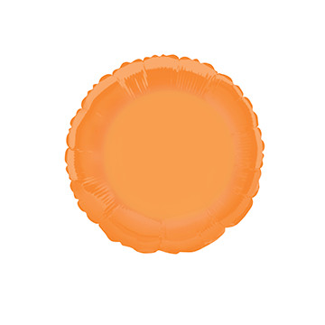 "18"" rund orange folieballon"