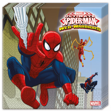 Spiderman Warriors servietter
