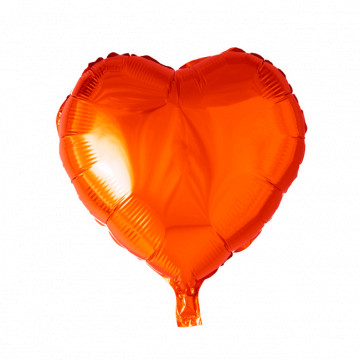 "Hjerte folieballon 18"" - Orange"