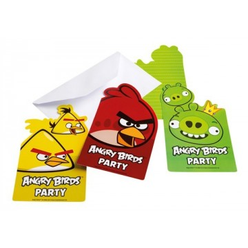 Angry Birds invitationer
