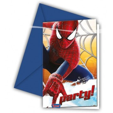 Spiderman invitationer