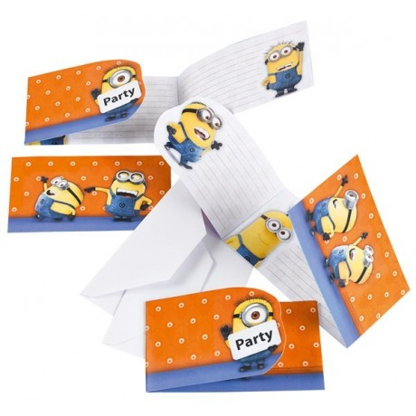 Minions invitationer - orange